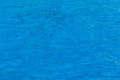 Blue swimming pool water surface texture. Royalty Free Stock Images
