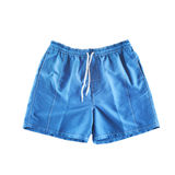 Blue swimming shorts. Isolated on white Royalty Free Stock Images