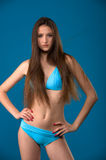 Blue swimsuit Stock Photography