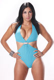 Blue swimsuit Royalty Free Stock Photo