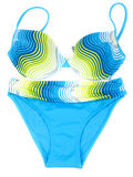 Blue swimsuit with yellow strip Royalty Free Stock Photo