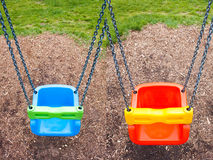 Blue swing Royalty Free Stock Photos
