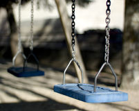 Blue Swing Royalty Free Stock Image