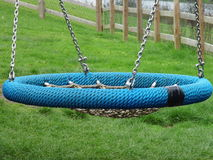 Blue swing Stock Image