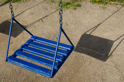 Blue  swing. Blue Royalty Free Stock Image