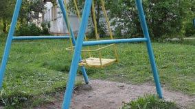 Blue swing swinging stock video