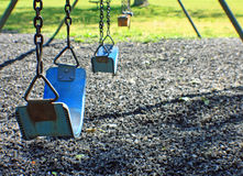 Blue swings Royalty Free Stock Photo