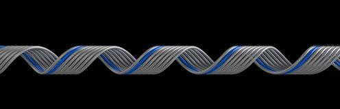 Blue swirl Stock Image
