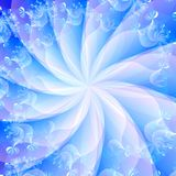 Blue Swirl Abstract Background Stock Image