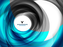 Blue swirl abstract modern design template Royalty Free Stock Photos