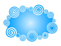 Blue Swirl background Royalty Free Stock Photography