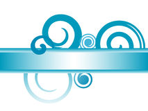 Blue Swirl Banner Stock Photography