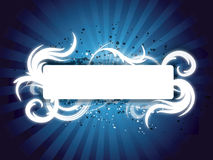 Blue swirl banner Stock Photo