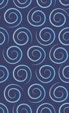 Blue swirl seamless pattern. Stock Photography