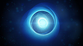 Blue swirl shape abstract background Royalty Free Stock Photography