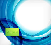 Blue swirl wave abstract design template Royalty Free Stock Photos