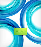 Blue swirl wave abstract design template Stock Photography
