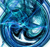 Blue swirling Abstract. Digital bluish swirling abstract background Royalty Free Stock Photo