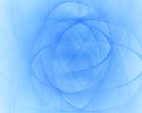 Blue swirling lines. On blue background Stock Image