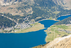 Blue Swiss Mountain Lake Royalty Free Stock Photography