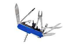 Blue Swiss Penknife Royalty Free Stock Image