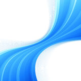 Blue swoosh lines border divided wave Royalty Free Stock Photos
