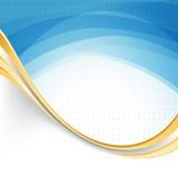 Blue swoosh lines modernistic folder template stock illustration