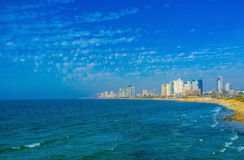 The blue sy over Tel Aviv Stock Photography
