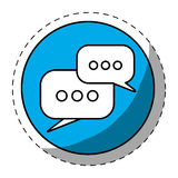 Blue symbol bubbles button icon. Image  illustration Stock Photography