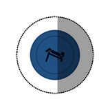Blue symbol person do exercise gym Royalty Free Stock Images