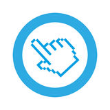 Blue symbol pixel hand cursor icon. Illustraction design Stock Photography