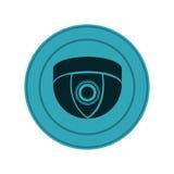 blue symbol video camera interior icon Royalty Free Stock Image