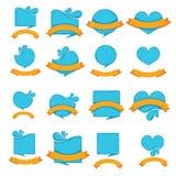 Blue symbols Stock Images