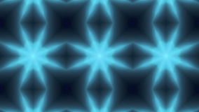 Blue Symmetrical Floral Pattern Kaleidoscope Background Stock Image