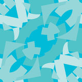 Blue Symmetrical Triangle Tile Pattern Royalty Free Stock Image