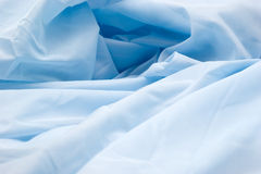 Blue synthetic fabric Stock Image