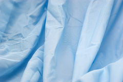 Blue synthetic fabric Royalty Free Stock Photography