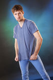 Blue t-shirt Royalty Free Stock Photo