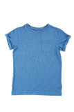 Blue t-shirt. Isolated on a white Stock Photography