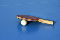 Blue table tennis Royalty Free Stock Photography