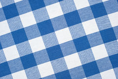 Blue tablecloth Royalty Free Stock Image