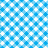 Blue tablecloth diagonal seamless pattern Stock Images