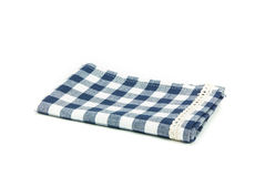 ฺblue tablecloth isolated. Blue tablecloth isolated on white background Stock Photography