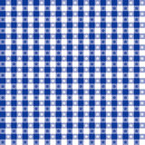 Blue Tablecloth Seamless Pattern stock illustration