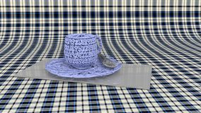 Blue, Tablecloth, Textile, Pattern stock photo