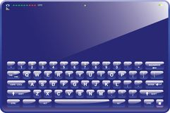 Blue Tablet Computer. With virtual keyboard, camera, gps and cell phone capabilities Royalty Free Stock Photos