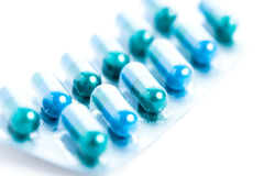Blue tablets Stock Image