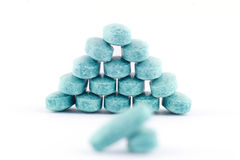 BLUE TABLETS Royalty Free Stock Photography