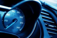 Blue Tachometer Closeup Stock Photos