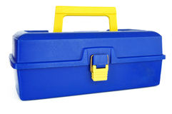 Blue Tackle Box Stock Photo